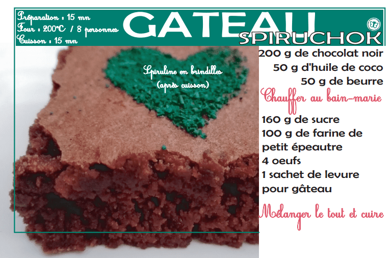 Recette La spiruline de Julie gâteau chocolat moelleux