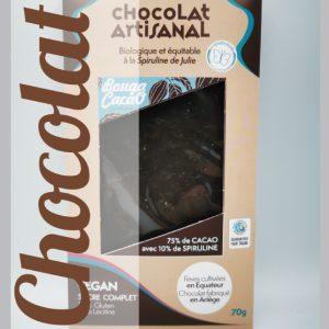 Chocolat vegan à la spiruline de Julie