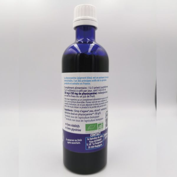 La phycocyanine de Julie SAPHIR 10 G/ L en 200ml verso