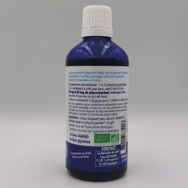 La phycocyanine de Julie SILVER 4G par L en 100ml verso